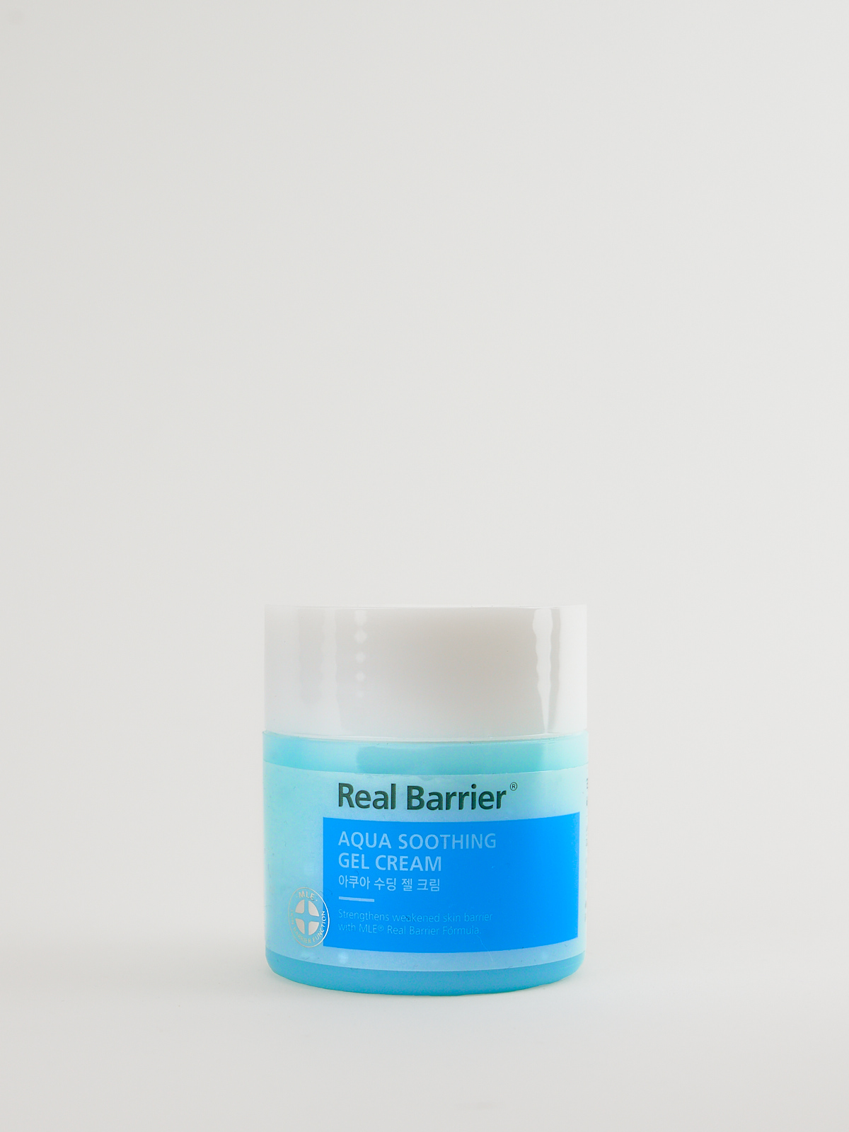 Real Barrier Aqua Soothing Gel Cream in türkisiner Dose