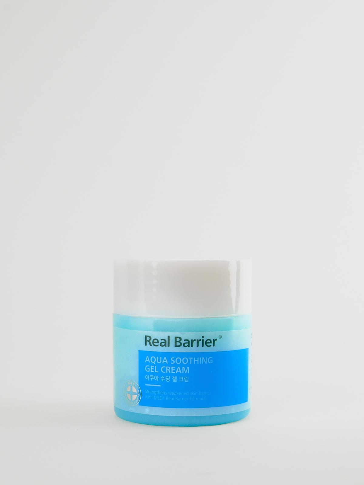 Real Barrier Aqua Soothing Gel Cream in türkisiner Dose