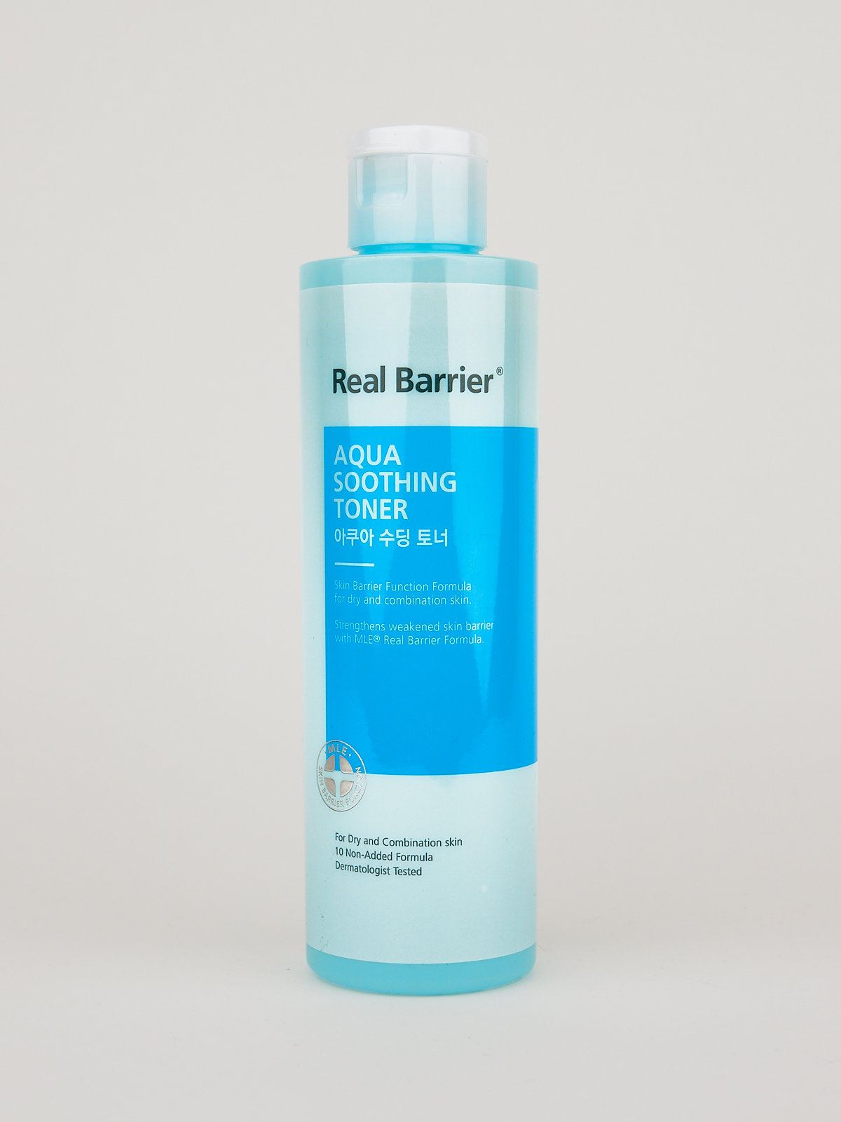 Real Barrier Aqua Soothing Toner in türkisener Flasche