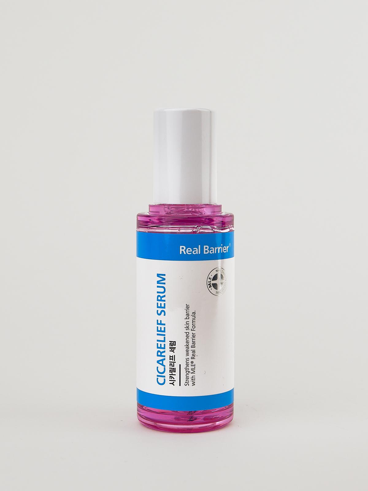 Real Barrier Cicarelief Serum in rosaner Flasche