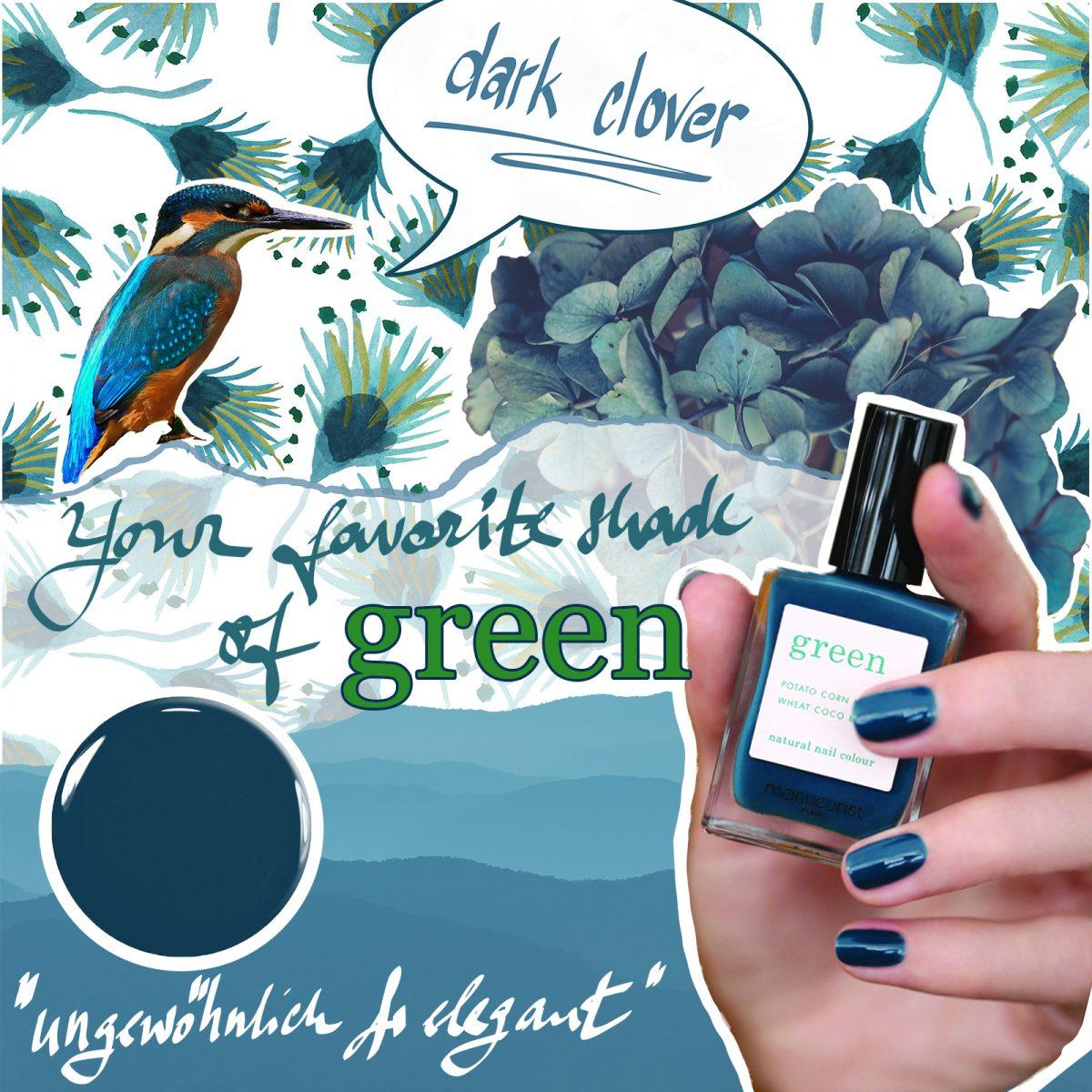mancurist green dark clover